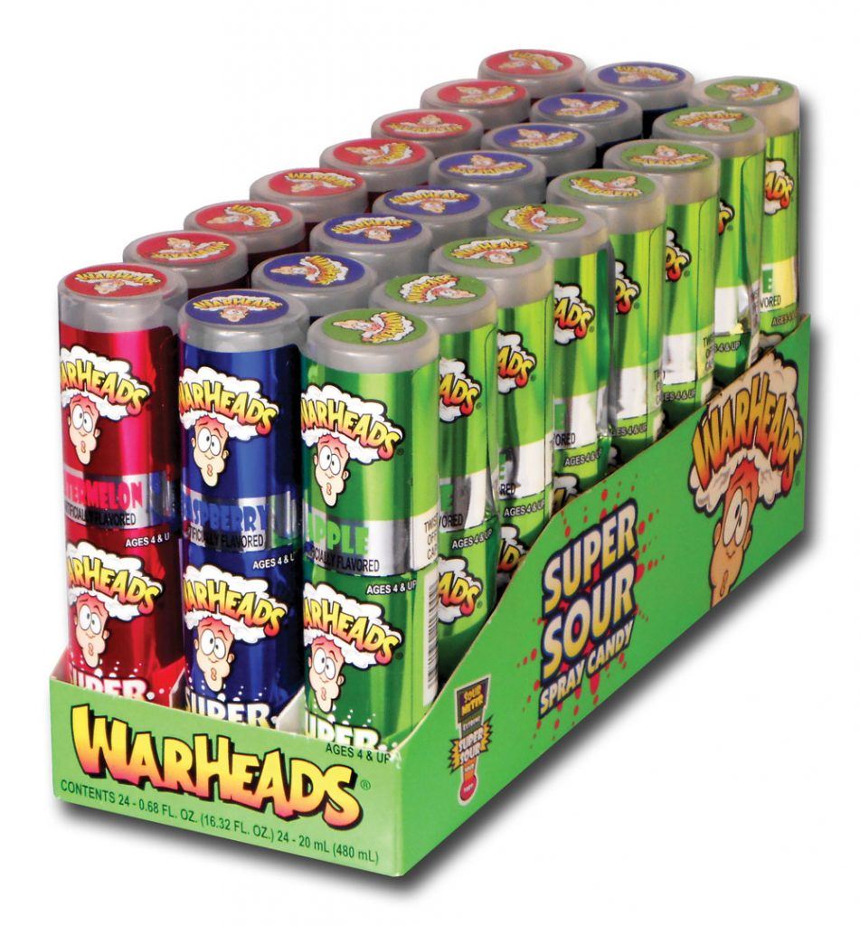 WarHeads Super Sour Spray Candy 20ml X 24 Units