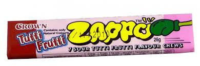 Zappo 7 Sour Tutti Fruity Chews 26g X 60 Units