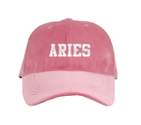 Zodiac Sign Pink Velvet Hat