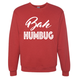 Bah Humbug Red Slouchy Pullover Sweatshirt