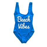 Beach Vibes Blue One Piece Swimsuit
