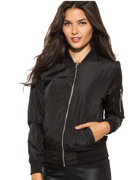 Best Friends Calligraphy Black Bomber Jackets