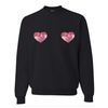 Sequin Heart Pullover Sweatshirt