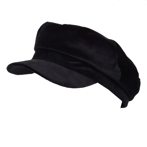 Black Velvet Newsboy Beret Hat