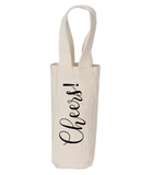 Cheers Canvas Natural Wine Tote