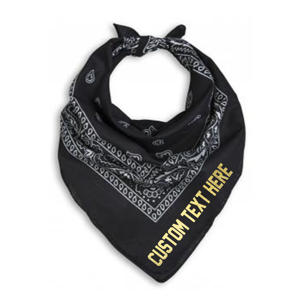Custom Text Bandana Neck Scarf