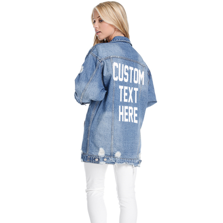 Custom Text Oversized Cargo Jacket