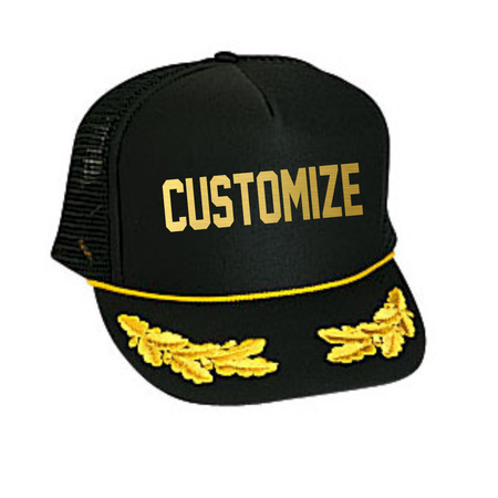 Custom Text Captain Hat