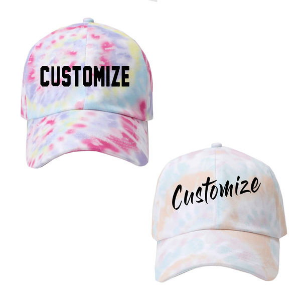Custom Text Tie Dye Dad Hat
