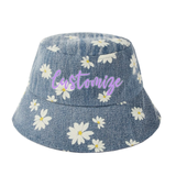Custom Daisy Denim Bucket Hat