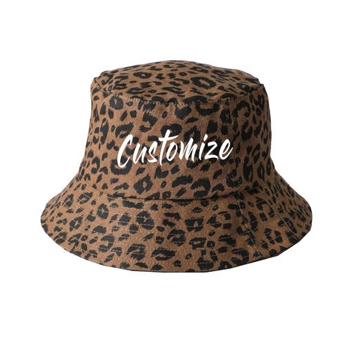 Custom Leopard Bucket Hat