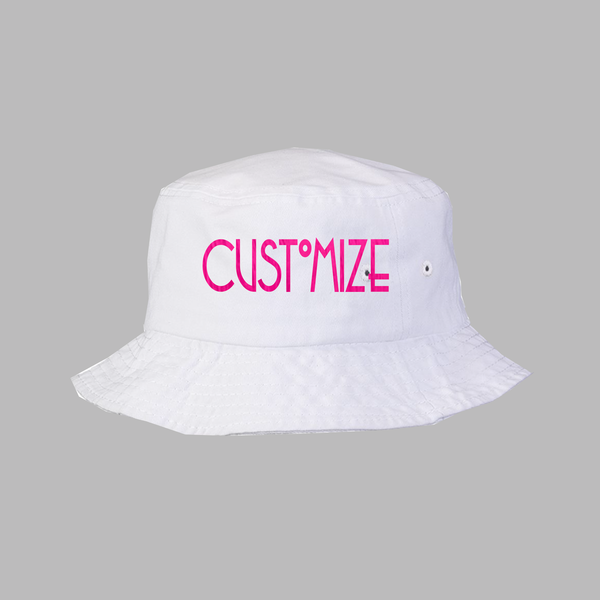 Custom White Bucket Hat