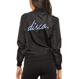 Disco Holographic Black Bomber Jacket