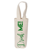 Drink Me Canvas Natural Wine Tote