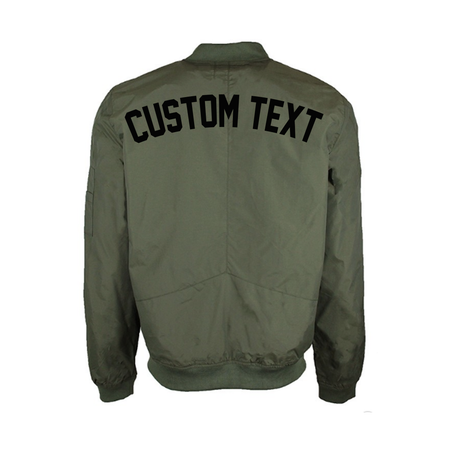 Custom Embroidered Black Bomber Jacket