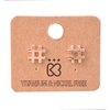 Hashtag Number Sign Rose Gold Stud Earrings