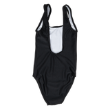 Custom Text Black Kids/ Youth One Piece Swimsuit