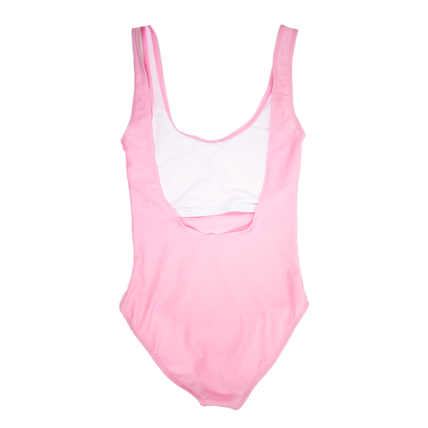 Custom Text Light Pink One Piece Swimsuit