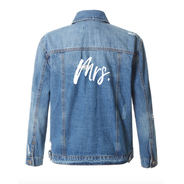Mrs Mid-Wash Distressed Denim Jacket