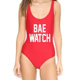 Bae Watch Red One Piece Swimsuit