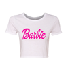 Barbie White Crop Top T-shirt