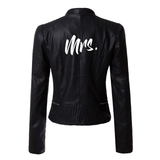 Mrs Black Faux Leather Jacket