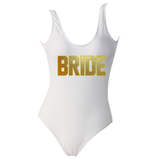 Bride White One Piece Monokini Swimsuit