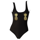 Gold Pineapple Pasties One Piece Swimsuit
