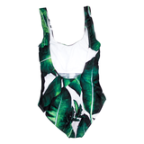 Custom Text Palm Print One Piece Swimsuit