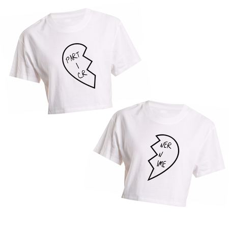 New Shit White Flowy V-neck T-shirt