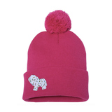 Frosted Circus Animal Cookie Pin on Pom Pom Beanie