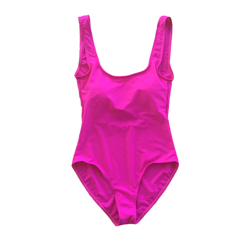Blank Hot Pink One Piece Swimsuit