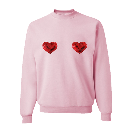 Love Myself First Motivational Bright Pink Slouchy Unisex Pullover Sweatshirt