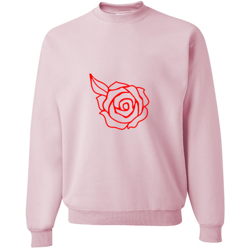 Rose Petal Slouchy Soft Pink Pullover Sweatshirt
