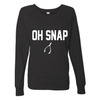 Oh Snap Thanksgiving Black Pullover Sweatshirt