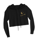 Love You To the Moon Crop Hooded Sweatshirt