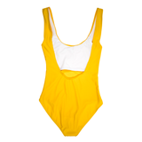 Custom Text Yellow One Piece Swimsuit