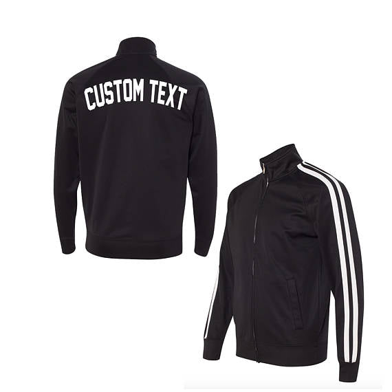 Unisex Black and White Track Jacket