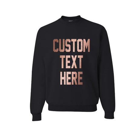 CUSTOM TEXT Soft Fleece Long Sleeve Crop Sweatshirt- Customize Hooded Black Crop Sweater- Gift for Her- Custom Hoodie for Her- Trendy