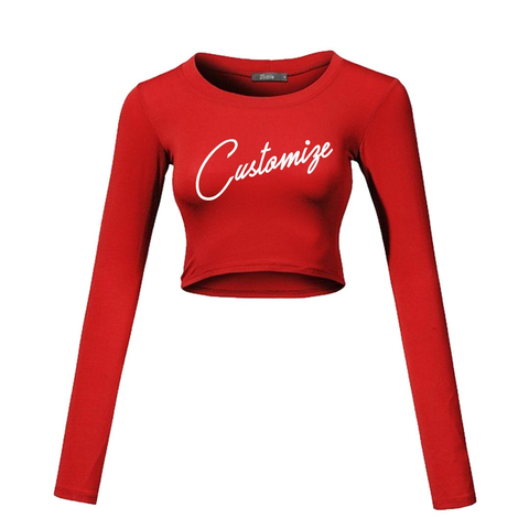 Details about  /Colorful Overlay Text Colorful Sweet Womens Personalized Crop Tops