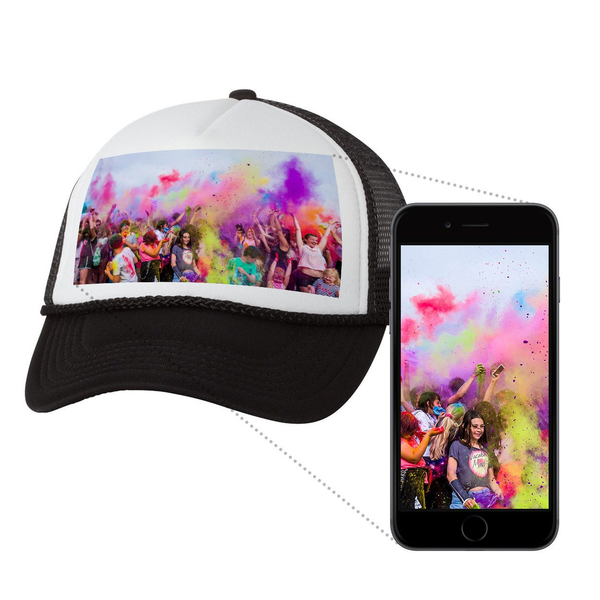 CUSTOM Full Color Graphic Image Trucker Hat