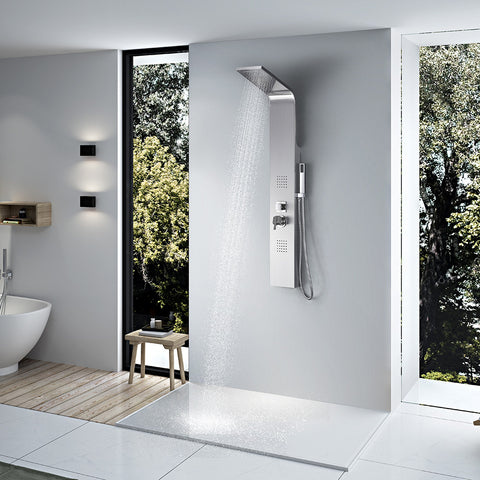 Vantory VS272 55'' Stainless Steel Rainfall Shower Tower Panel - VANTORY - THE REAL TASTE OF BATHING