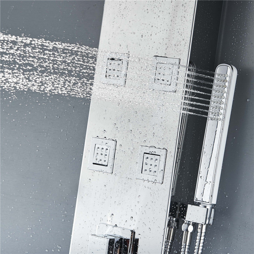 Vantory VS301 55' 8K Mirror Stainless Steel Shower Panel - VANTORY - THE REAL TASTE OF BATHING