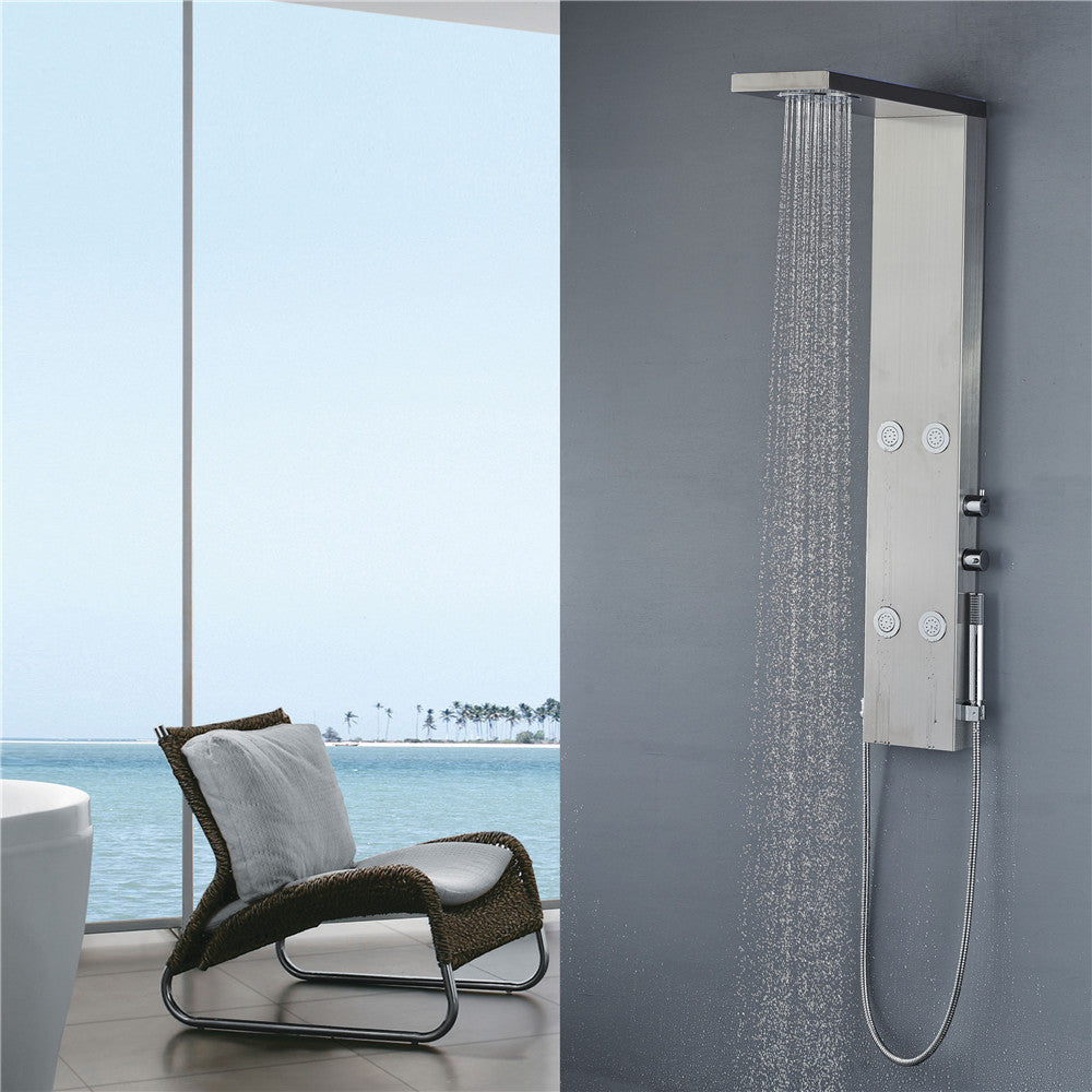 "Vantory VA050 49"" Stainless Steel Shower Panel Tower - VANTORY - THE REAL TASTE OF BATHING"