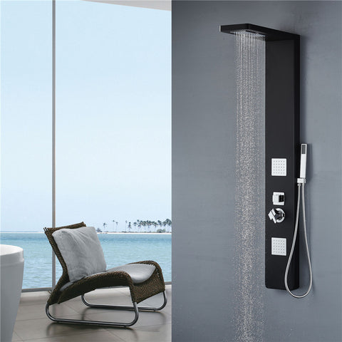 "Vantory VA108 59"" Aluminum Shower Panel System - VANTORY - THE REAL TASTE OF BATHING"