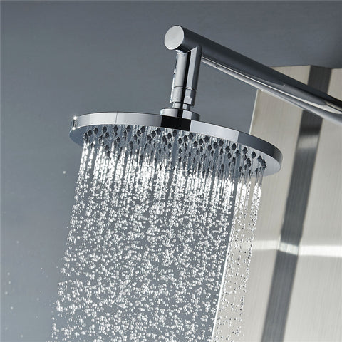 Vantory VD07 8 Inches Rainfall Polished Chrome Shower Head - VANTORY - THE REAL TASTE OF BATHING