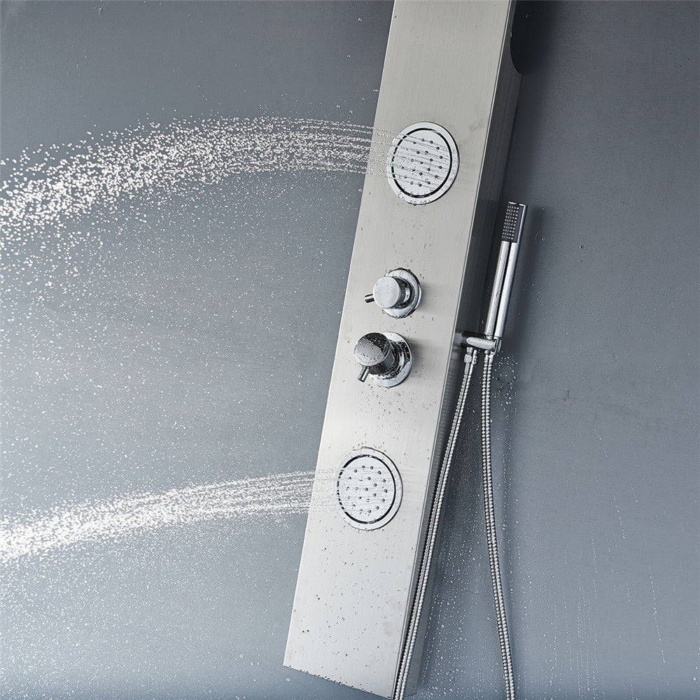 Vantory VS157 55'' Stainless Steel Shower Panel System - VANTORY - THE REAL TASTE OF BATHING