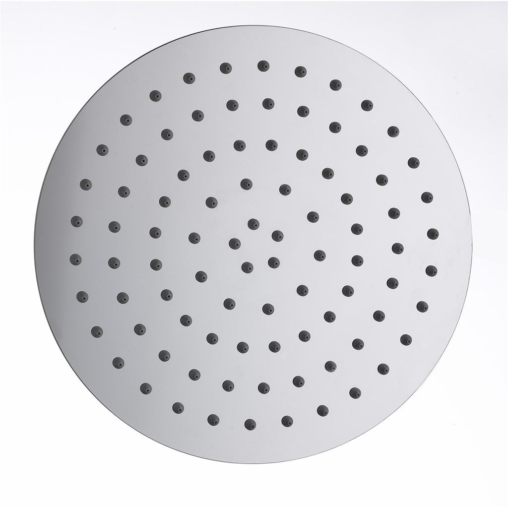 "Vantory D801 Bathroom Chrome Stainless Steel Ultra Thin Shower Head Round 8"" Rain Style - VANTORY - THE REAL TASTE OF BATHING"