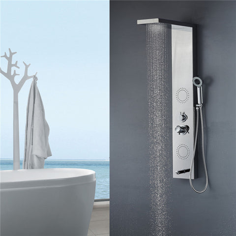 Vantory VS055 8K Mirror Stainless Steel Shower Panel - VANTORY - THE REAL TASTE OF BATHING