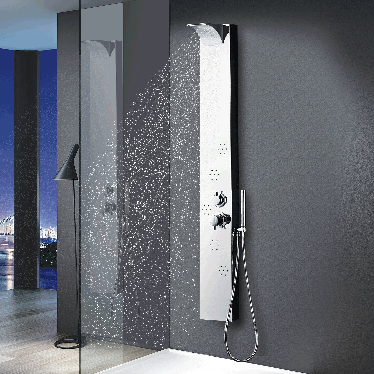 http://www.amazon.com/Vantory-Stainless-Shower-Rainfall-Waterfall/dp/B01EZJH5R2/ref=sr_1_1?ie=UTF8&keywords=shower+panel
